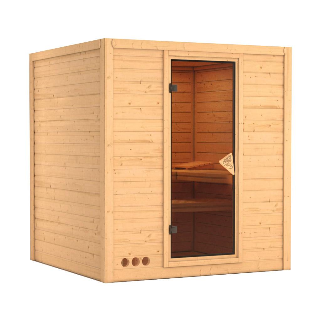 karibu saunen g nstig online kaufen bei gamoni karibu 40 mm massiv sauna mojave. Black Bedroom Furniture Sets. Home Design Ideas