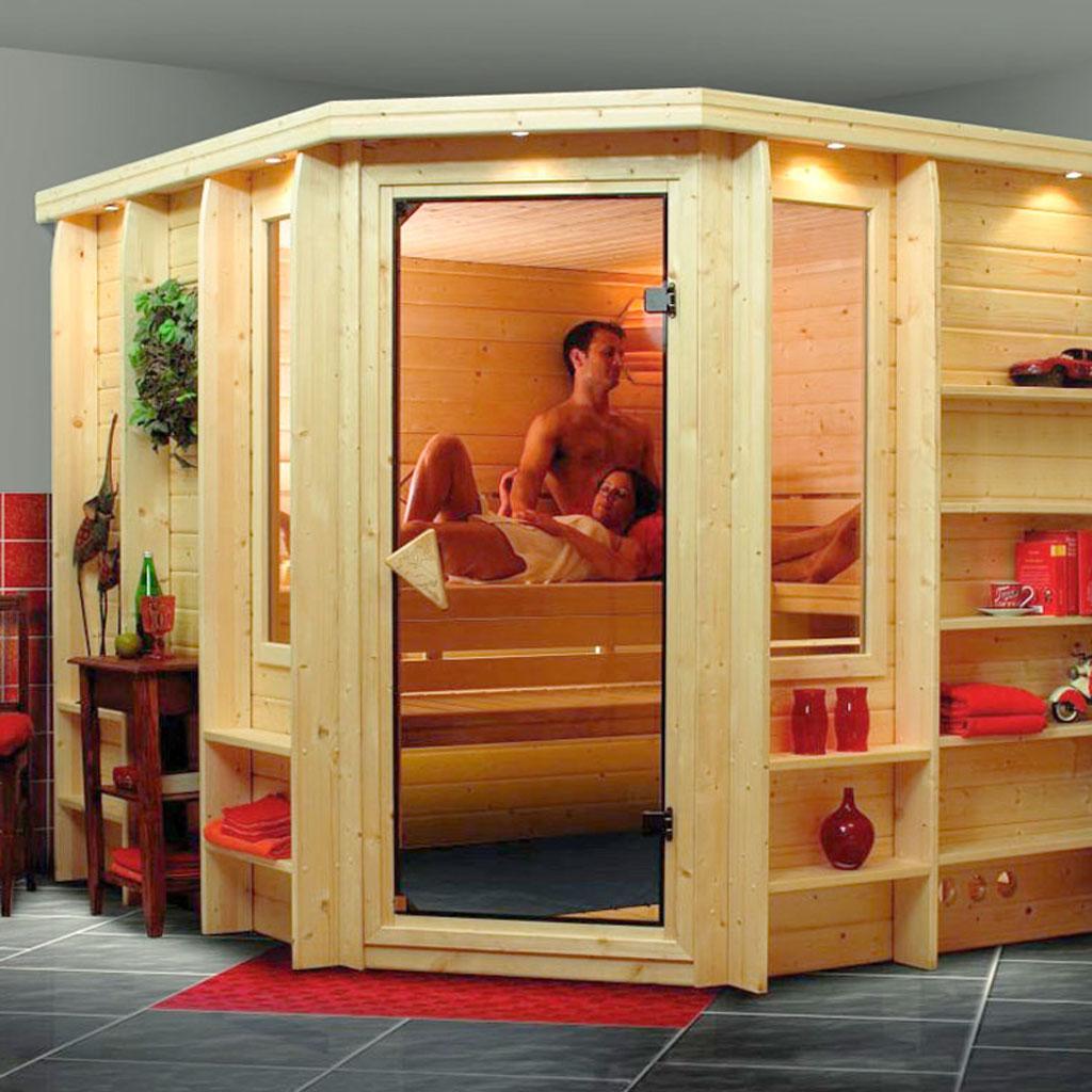 karibu saunen g nstig online kaufen bei gamoni karibu premium sauna marona. Black Bedroom Furniture Sets. Home Design Ideas