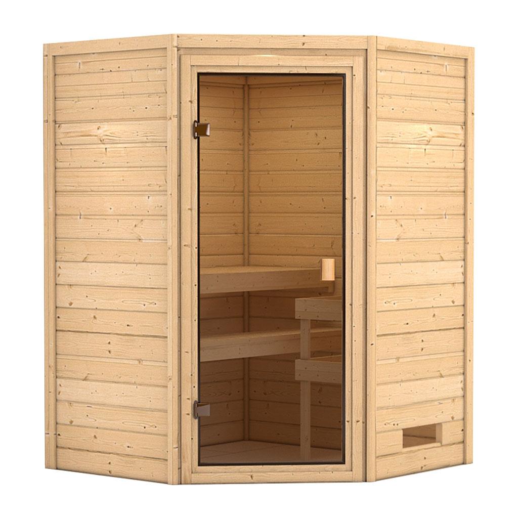 karibu saunen g nstig online kaufen bei gamoni woodfeeling 38 mm massiv sauna aurel. Black Bedroom Furniture Sets. Home Design Ideas