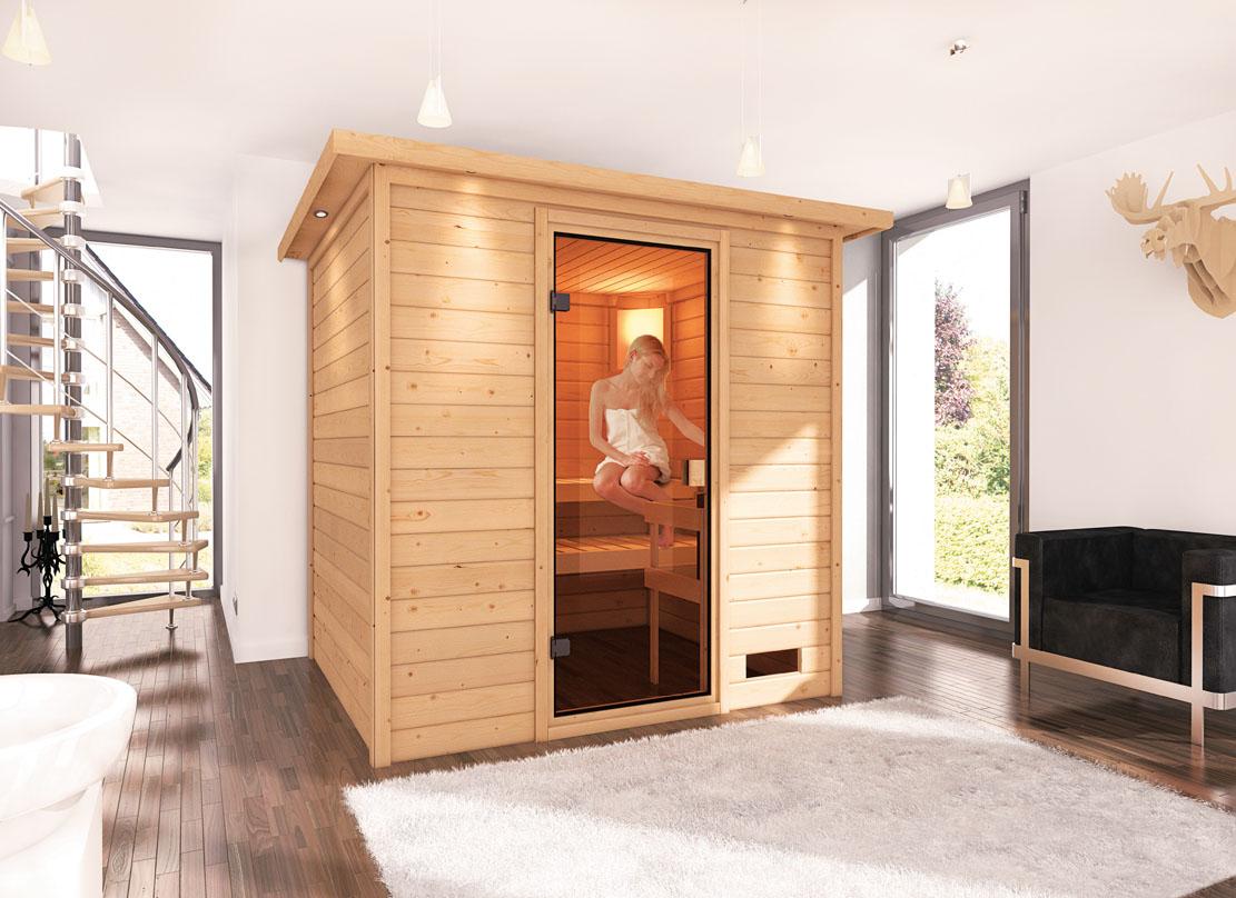 karibu saunen g nstig online kaufen bei gamoni woodfeeling massiv sauna adina basismodell. Black Bedroom Furniture Sets. Home Design Ideas