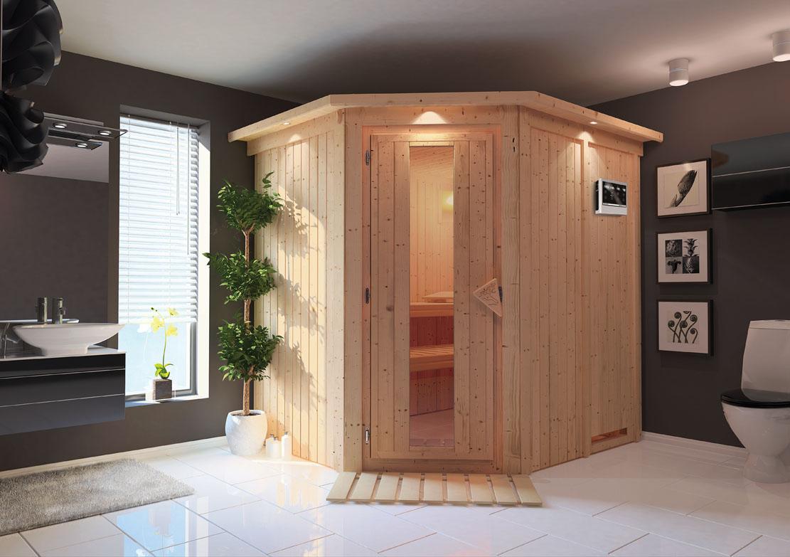 karibu saunen g nstig online kaufen bei gamoni karibu 68 mm system sauna siirin. Black Bedroom Furniture Sets. Home Design Ideas