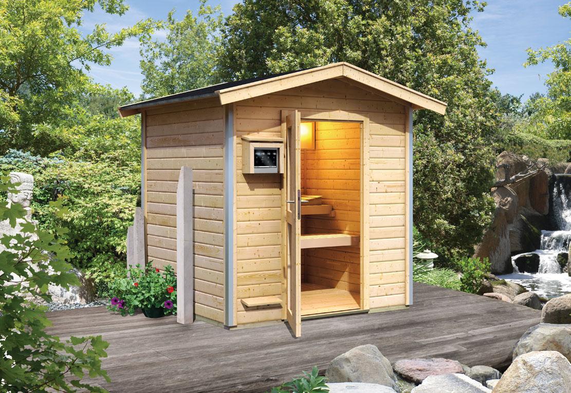 karibu saunen g nstig online kaufen bei gamoni karibu 38 mm saunahaus lasse. Black Bedroom Furniture Sets. Home Design Ideas