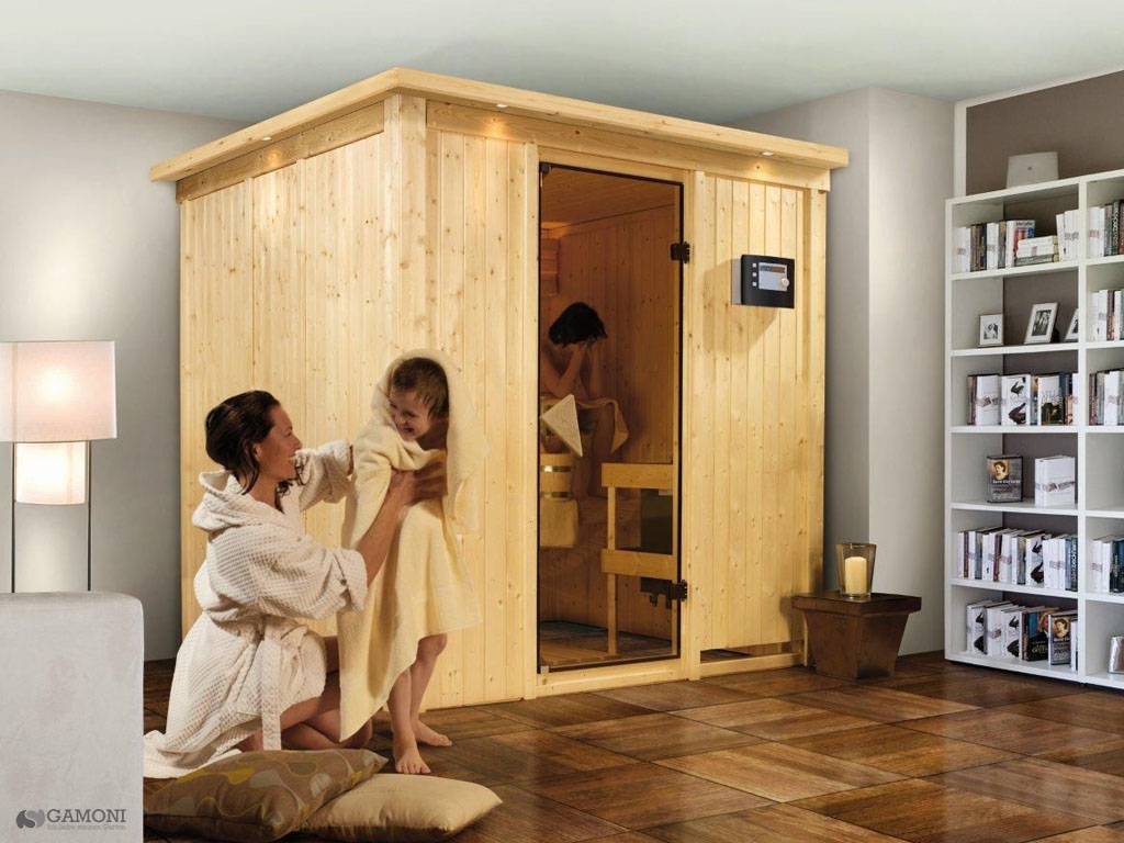 karibu saunen g nstig online kaufen bei gamoni karibu plug play sauna daria. Black Bedroom Furniture Sets. Home Design Ideas